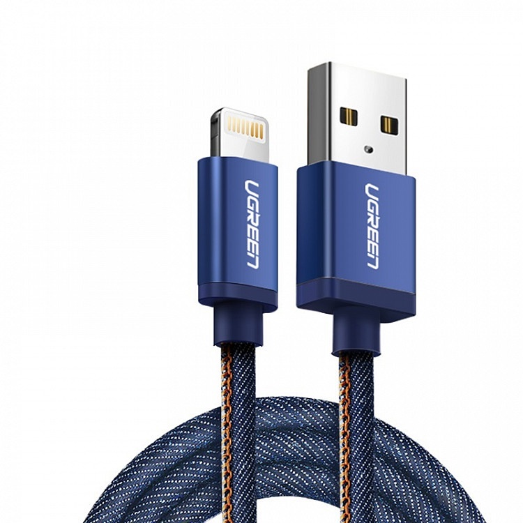 Кабель Ugreen MFi Lightning Cable Blue, 1.0m, синий
