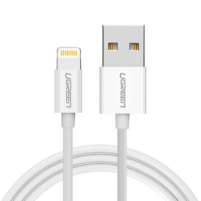 Кабель Ugreen MFi Lightning to USB Cable (ABS case), 0.25m, White