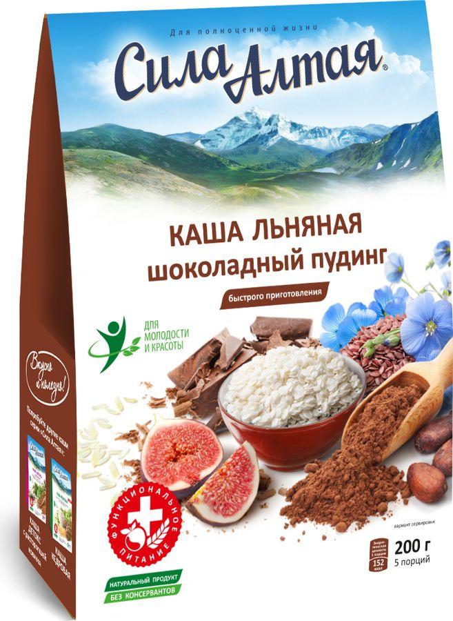 Каша льняная Сила Алтая Шоколадный пудинг, 200 г Сила Алтая