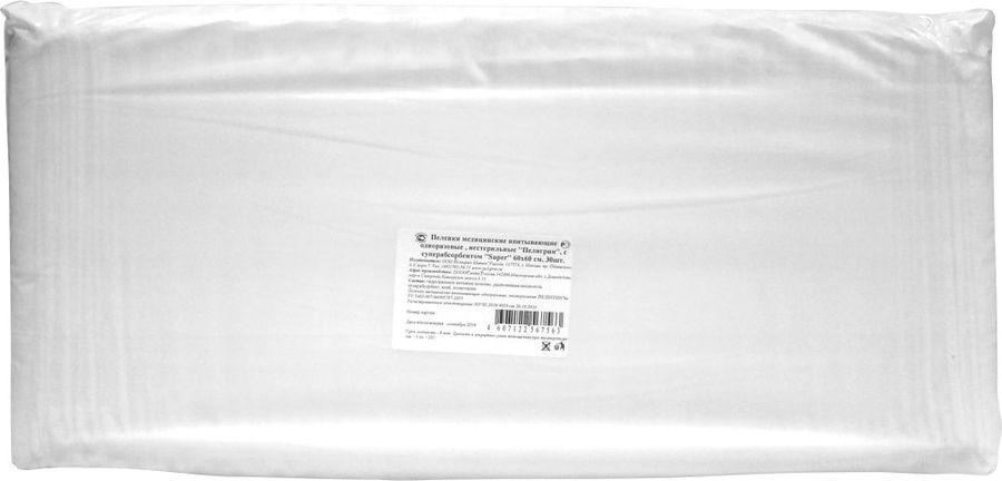 Пеленка одноразовая Пелигрин Super, нестерильные, с суперабсорбентом, 60 х 60 см, 30 шт детские одноразовые пеленки пелигрин 60х40 см серия умная покупка 10 шт