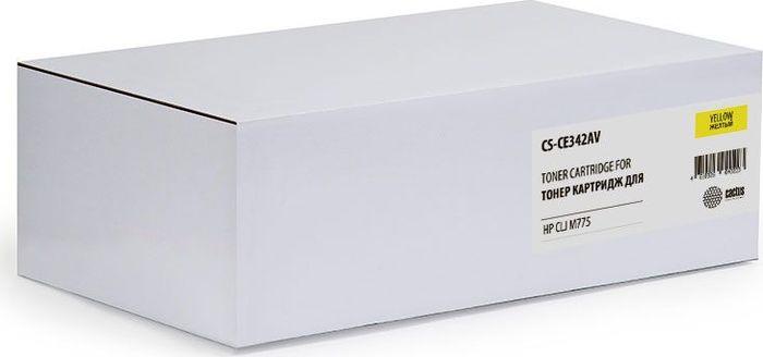 Тонер-картридж Cactus CS-CE342AV для HP CLJ M775, желтый цены онлайн