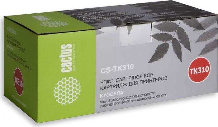 Картридж Cactus CS-TK310, черный, для лазерного принтера cactus cs tk675 black тонер картридж для kyocera mita km 2540 2560 3040 3060