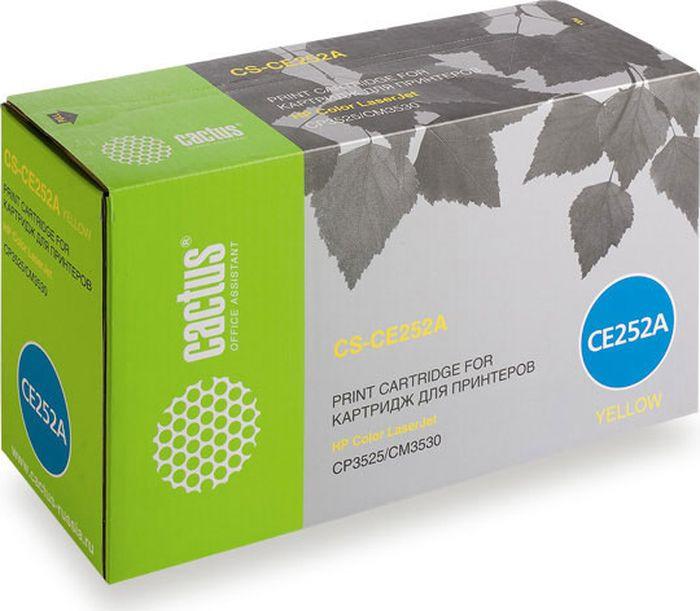 Картридж Cactus CS-CE252AR, желтый, для лазерного принтера цена