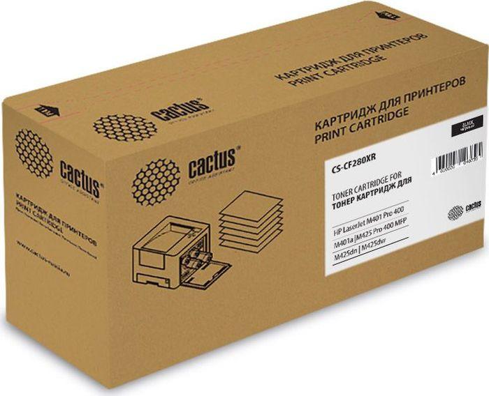 Картридж Cactus CS-CF280XR, черный, для лазерного принтера все цены