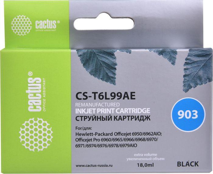 Картридж струйный Cactus CS-T6L99AE для HP OJP 6950/6960/6970, черный картридж струйный cactus cs bci24cl