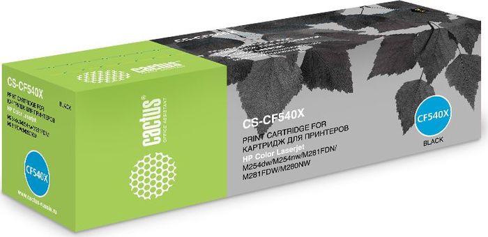 Картридж Cactus CS-CF540X, черный, для лазерного принтера тонер картридж hp cf540x