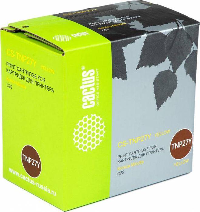 Картридж Cactus CS-TNP27Y, желтый, для лазерного принтера цены онлайн