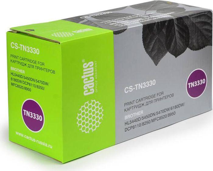 Картридж Cactus CS-TN3330, черный, для лазерного принтера free shipping for brother dr720 dr3355 toner cartridge for brother hl 5440d 5445d 5450dn 5470dn 5470dwt laser printer
