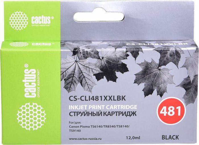Картридж Cactus CS-CLI481XXLBK, черный, для струйного принтера