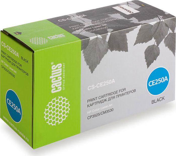 Фото - Картридж Cactus CS-CE250AR, черный, для лазерного принтера тонер картридж cactus cs ce250av черный 5000стр для hp clj cm3530 cp3525