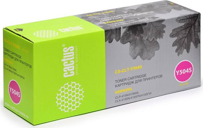 Картридж Cactus CS-CLT-Y504S, желтый, для лазерного принтера все цены