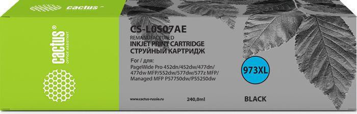 Картридж струйный Cactus 973XL CS-L0S07AE 973XL для HP PageWide Pro 452dw/Pro 477dw, черный