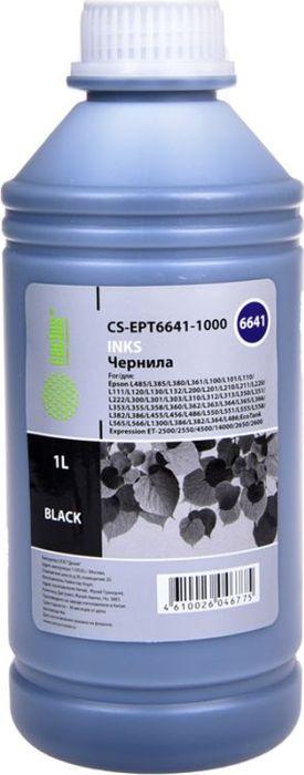 Чернила Cactus CS-EPT6641-1000 для Epson L100/L110/L120/L132/L200/L210/L222/L300/L312/, черный принтер epson l222