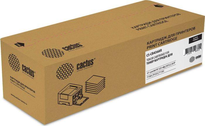 Картридж Cactus CS-CB436AR, черный, для лазерного принтера все цены