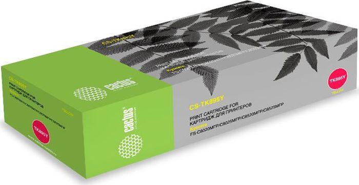 Картридж Cactus CS-TK895Y, желтый, для лазерного принтера картридж kyocera tk 895y yellow для fs c8020 c8025 6000стр