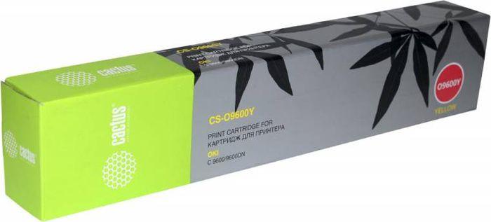 Картридж Cactus CS-O9600Y, желтый, для лазерного принтера цены онлайн