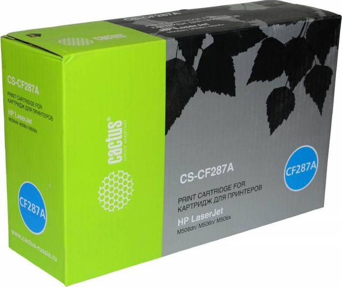 Картридж Cactus CS-CF287A, черный, для лазерного принтера