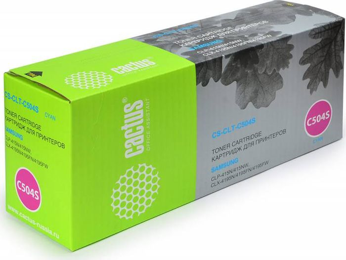 Картридж Cactus CS-CLT-C504S, голубой, для лазерного принтера картридж cactus cs tk540с голубой