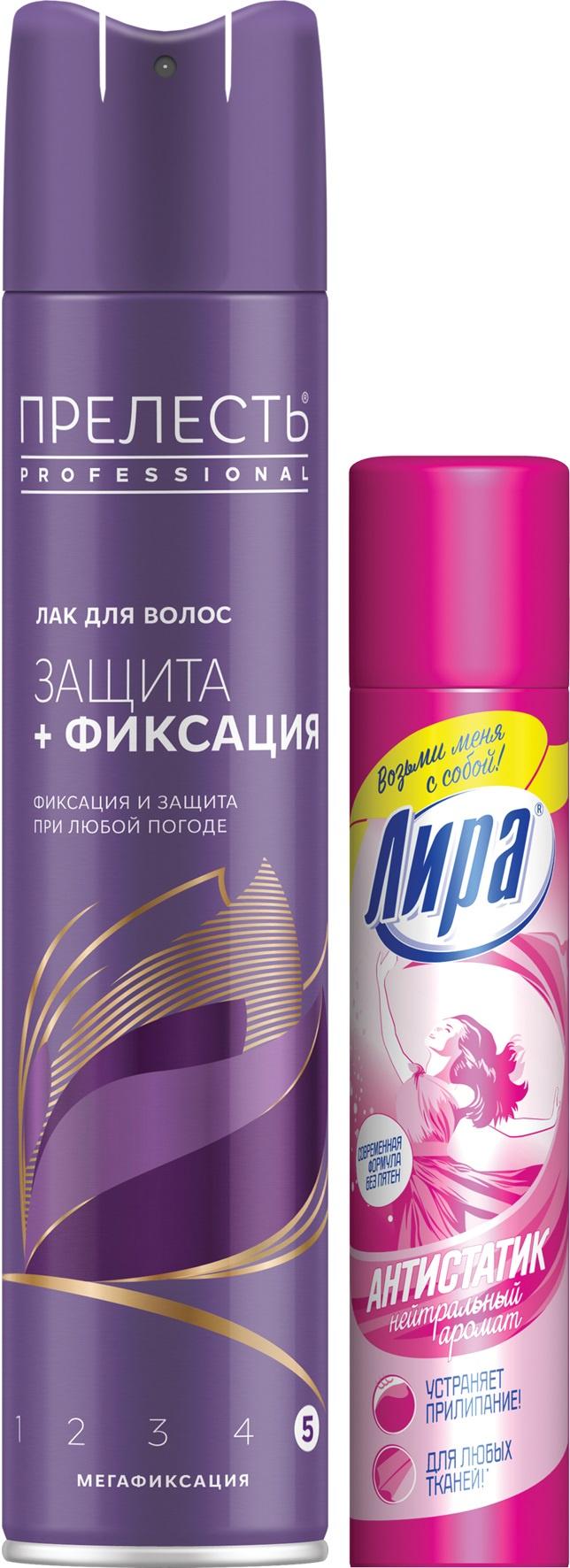 Lak-dlya-volos-Prelestq-Professional-Prelestq-Professional-Zawita-megafiksaciya-300-ml-i-antistatik-dlya-odezhdy-LIRA-Antistatik-Nejtralqnyj-zapah-75-