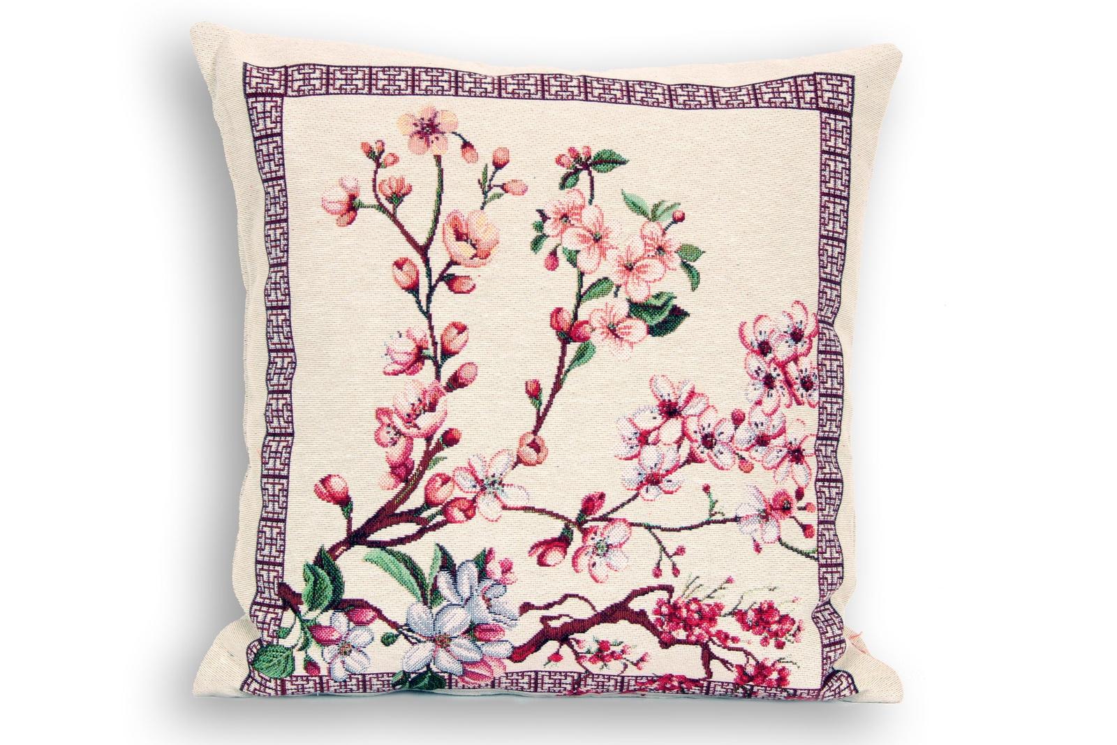 Подушка декоративная Магазин гобеленов сакура 45*45 см диванная подушка getuback emoji si020