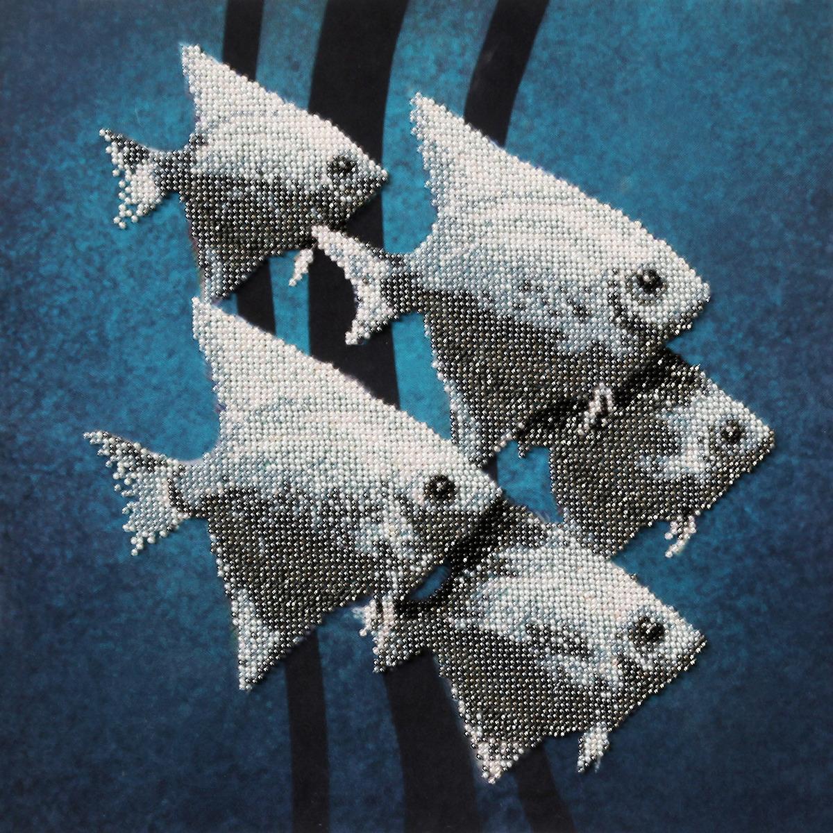 """Набор для вышивания бисером Созвездие """"Рыбки"""", 508387, 30 х 30 см"""