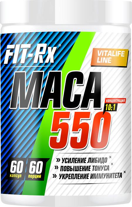 Средства для повышения тестостерона Fit-Rx Maca 550, 60 капсул еда для потенции женщин