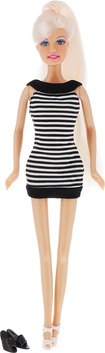 Defa Toys Кукла Lucy Fashion Style в летнем платье, цвет черный, белый платье lucy