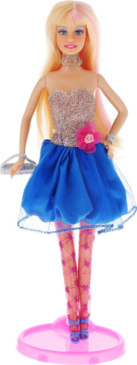 Defa Toys Кукла Lucy Model Show цвет платья синий