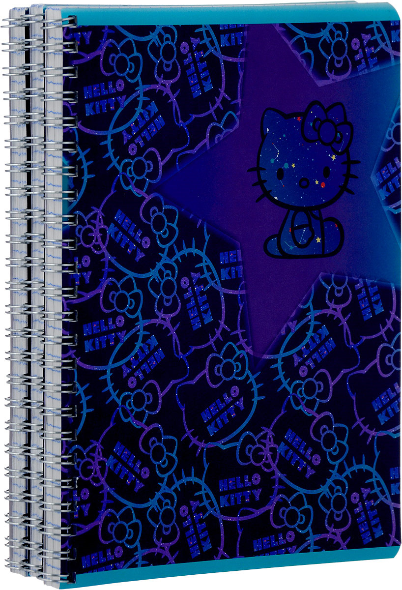 Тетрадь Action! Hello Kitty, HKO-ANS-8001/5/3, в клетку, 80 листов, 3 шт набор гелевых ручек action hello kitty 3 шт син блистер hko agp155 3
