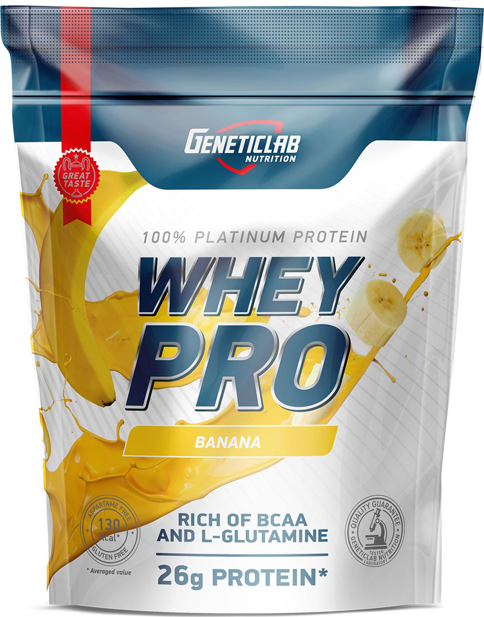 Протеин сывороточный Geneticlab Nutrition Whey Pro, банан, 900 г multi whey