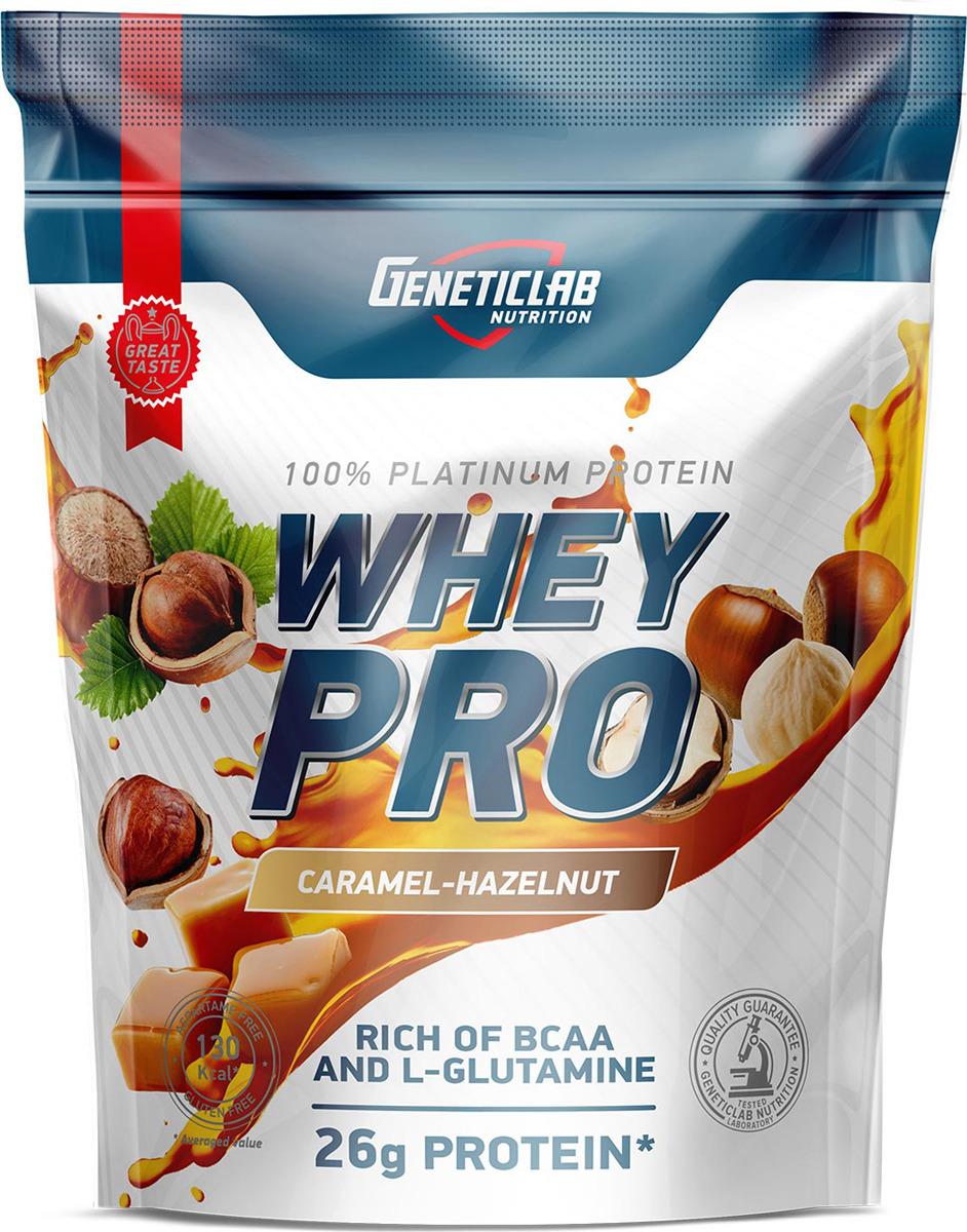 Протеин сывороточный Geneticlab Nutrition Whey Pro, карамель-фундук, 900 г multi whey