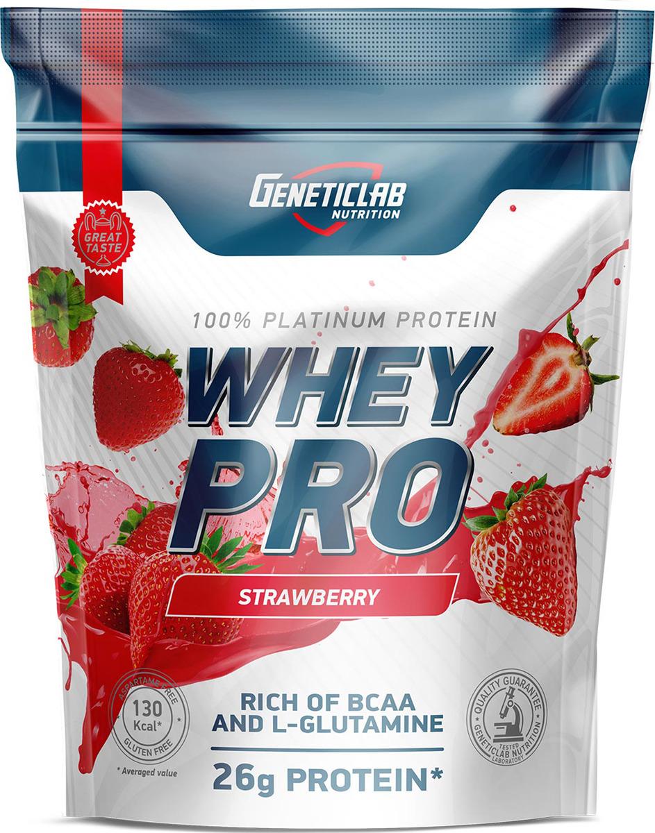 Протеин сывороточный Geneticlab Nutrition Whey Pro, клубника, 900 г multi whey