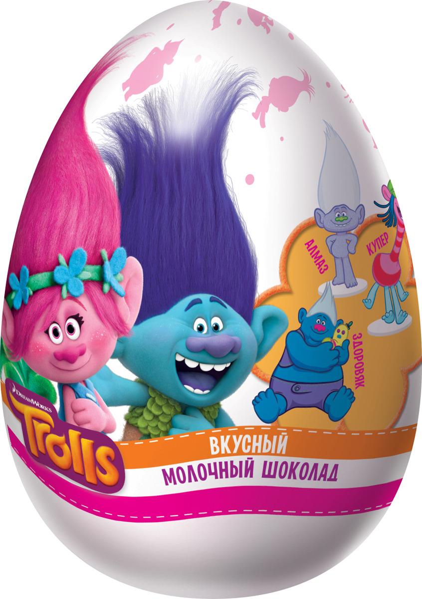 Шоколадное яйцо Конфитрейд Trolls XXL, 70 г цена