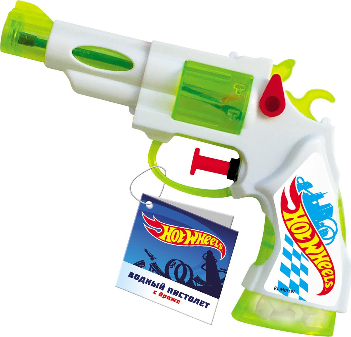 Конфеты Конфитрейд Hot Wheels с игрушкой Водный пистолет, 5 г, цвет в ассортименте конфитрейд лето водный пистолет драже с игрушкой 5 г
