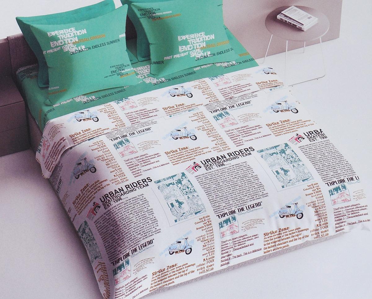 Фото - Комплект постельного белья Bravo, 105295, зеленый, белый, 2-спальный, наволочки 70х70 постельное белье этель кружева комплект 2 спальный поплин 2670978
