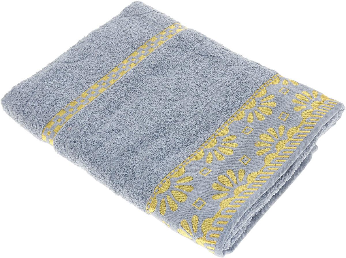 Полотенце махровое Василиса Дубравушка, 157451, серый, 70 х 130 см полотенца нордтекс полотенце aquarelle палитра аметистовый 70 130 см