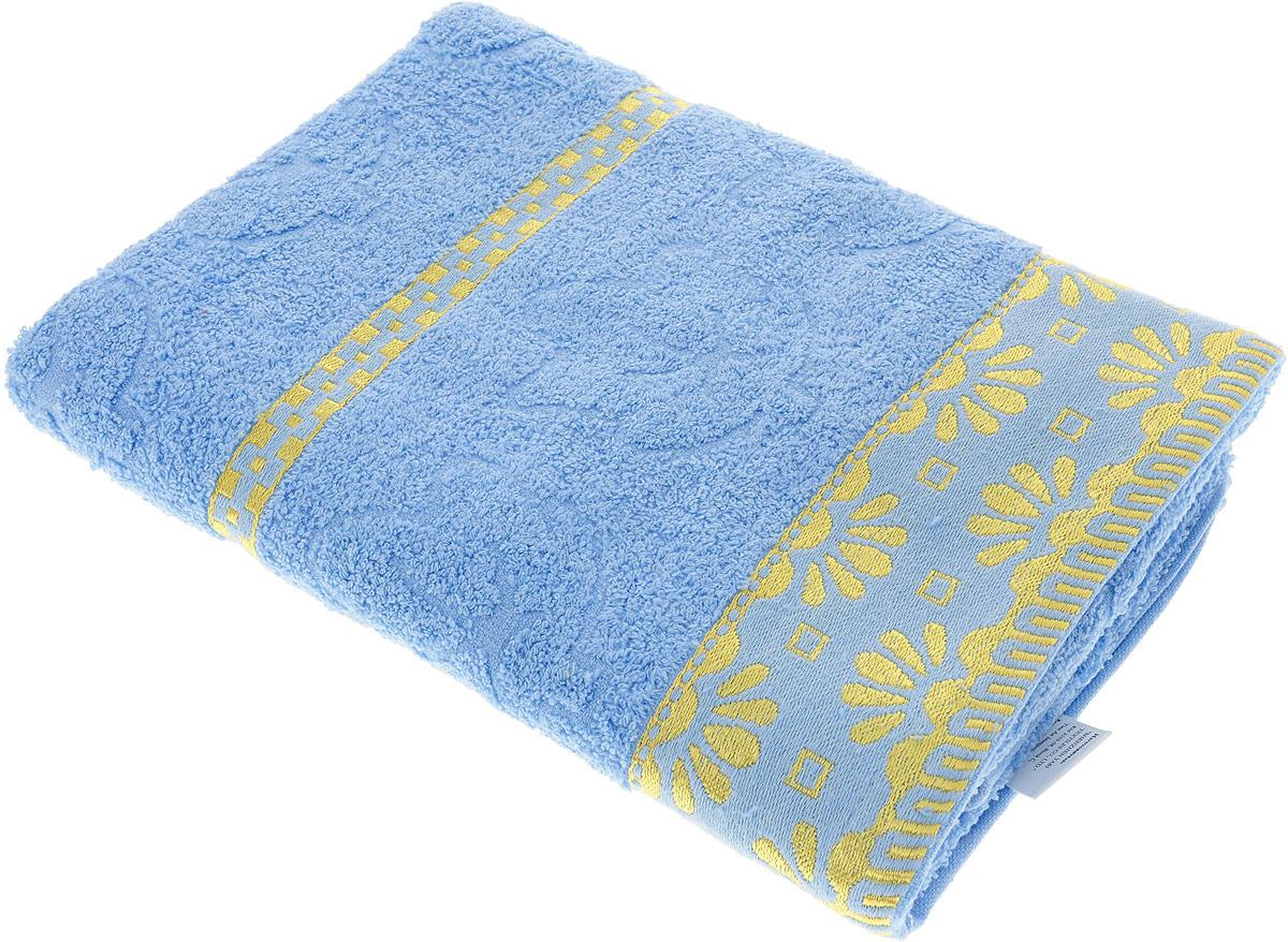 Полотенце махровое Василиса Дубравушка, 157452, голубой, 70 х 130 см полотенца нордтекс полотенце aquarelle палитра аметистовый 70 130 см