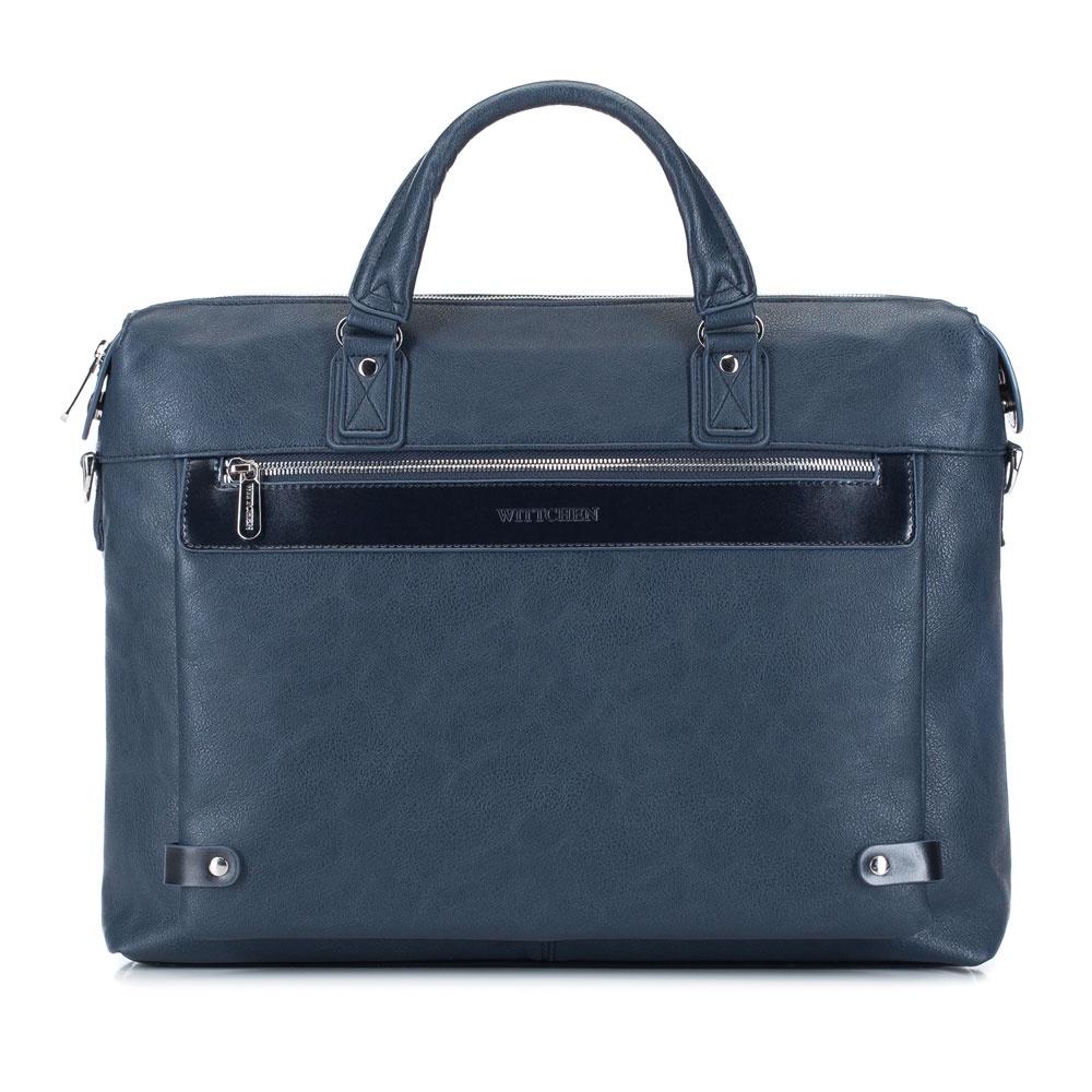 Сумка для ноутбука Wittchen 88-3P-104, темно-синий сумка хлопковая для коврика сутра dy 0 35 кг 70 см синий 18 см