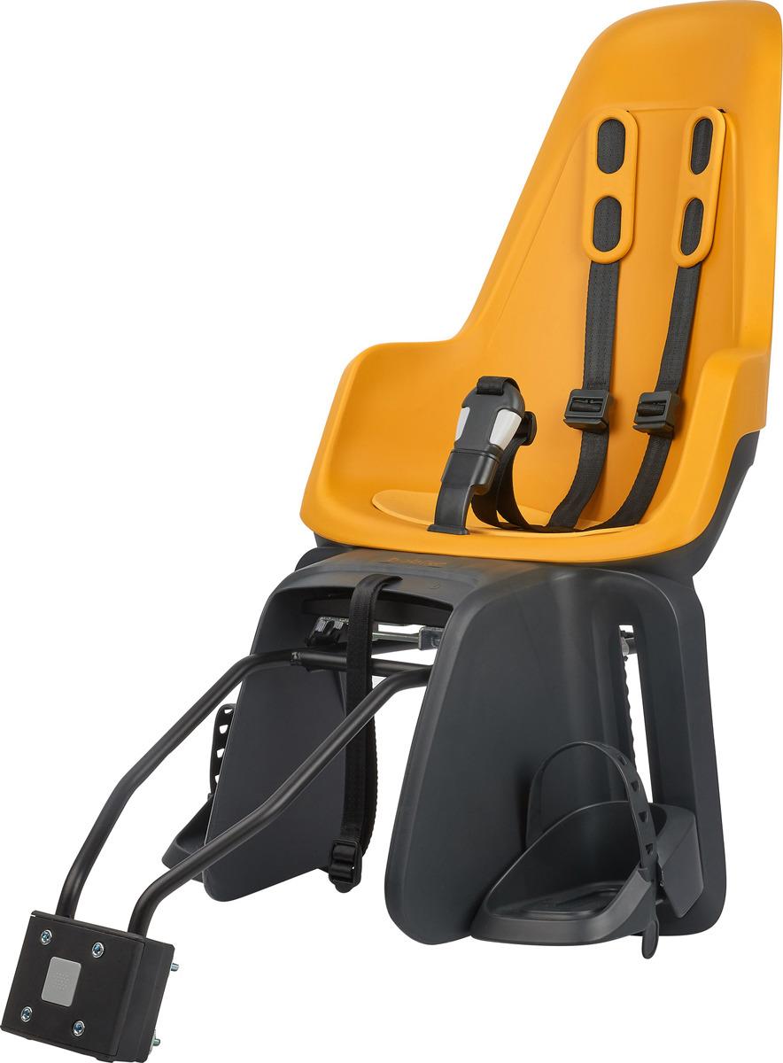 цена на Велокресло детское заднее Bobike One Maxi 1P, крепление на раму и багажник велосипеда, 8012200010, горчичный