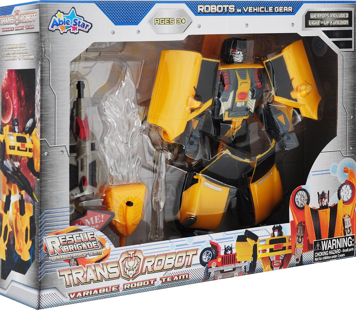 Робот-трансформер Able Star, 78115, цвет желтый yako робот трансформер цвет желтый зеленый