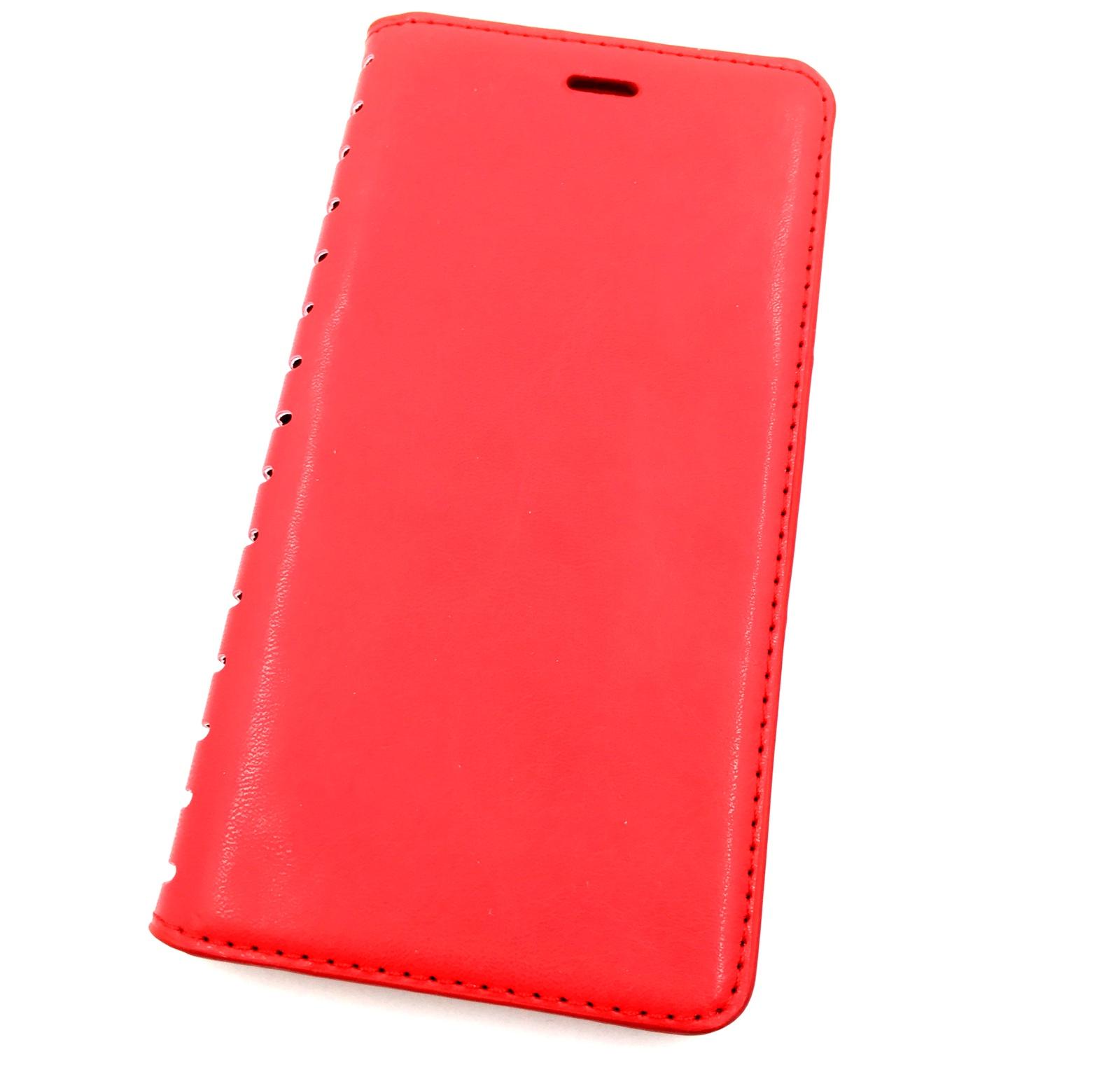 Чехол для сотового телефона Мобильная мода Xiaomi Mi Note Чехол-книжка силиконовая с отделом для карт QUINS, красный