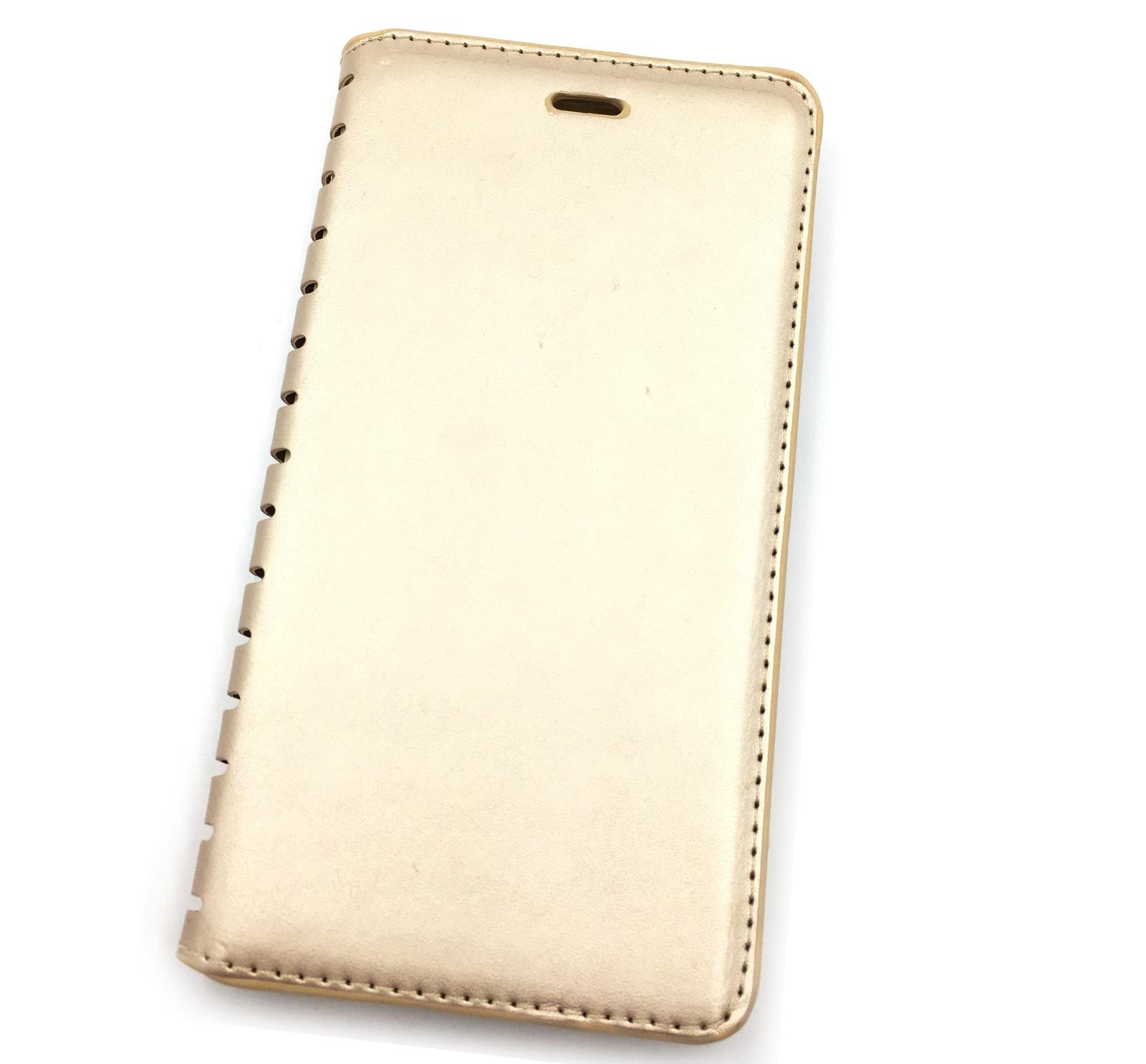 Чехол для сотового телефона Мобильная мода Xiaomi Mi Note Чехол-книжка силиконовая с отделом для карт QUINS, золотой