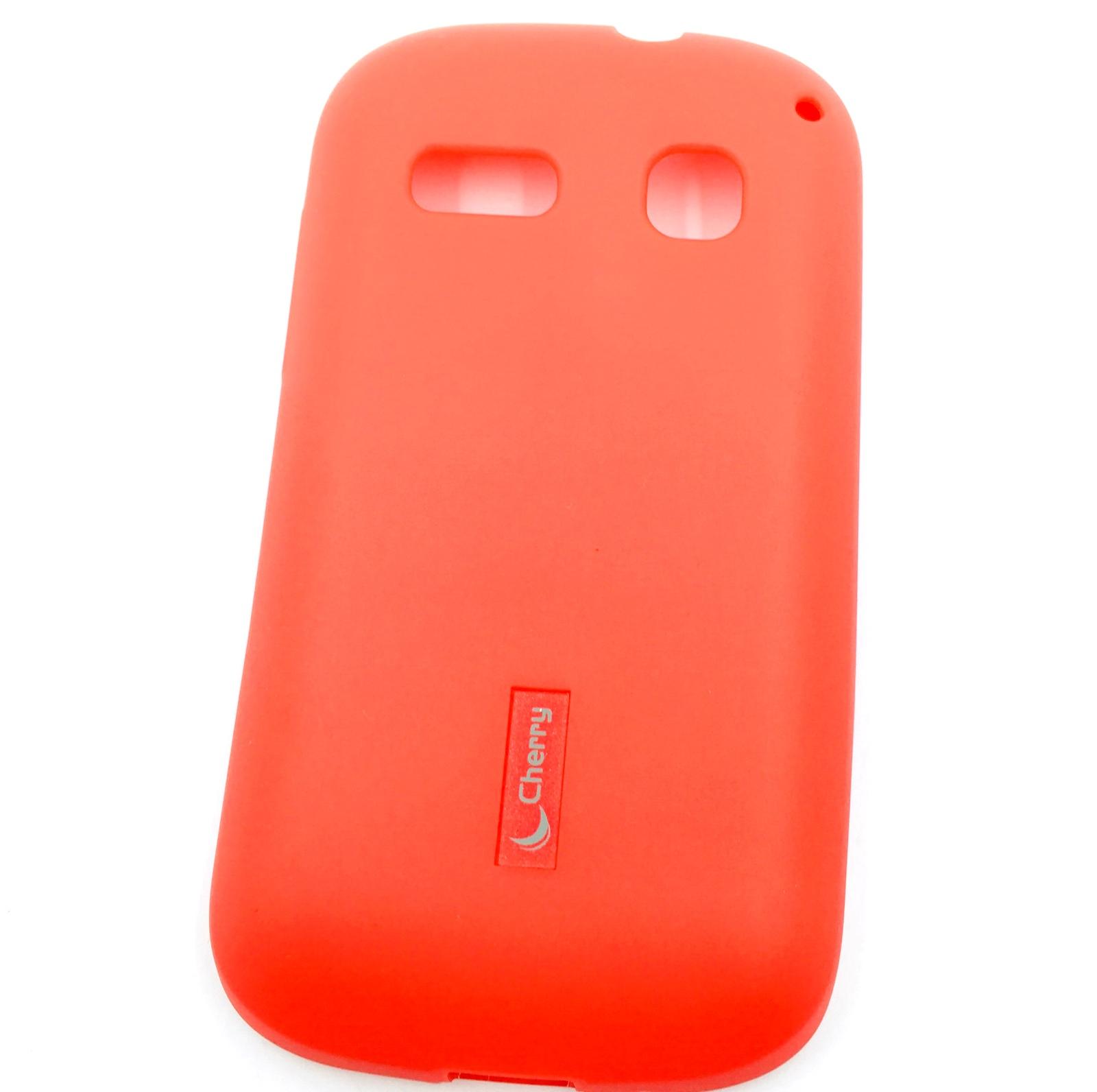 все цены на Чехол для сотового телефона Cherry Alcatel C3/OT4033D Накладка резиновая с пленкой на экран, красный онлайн