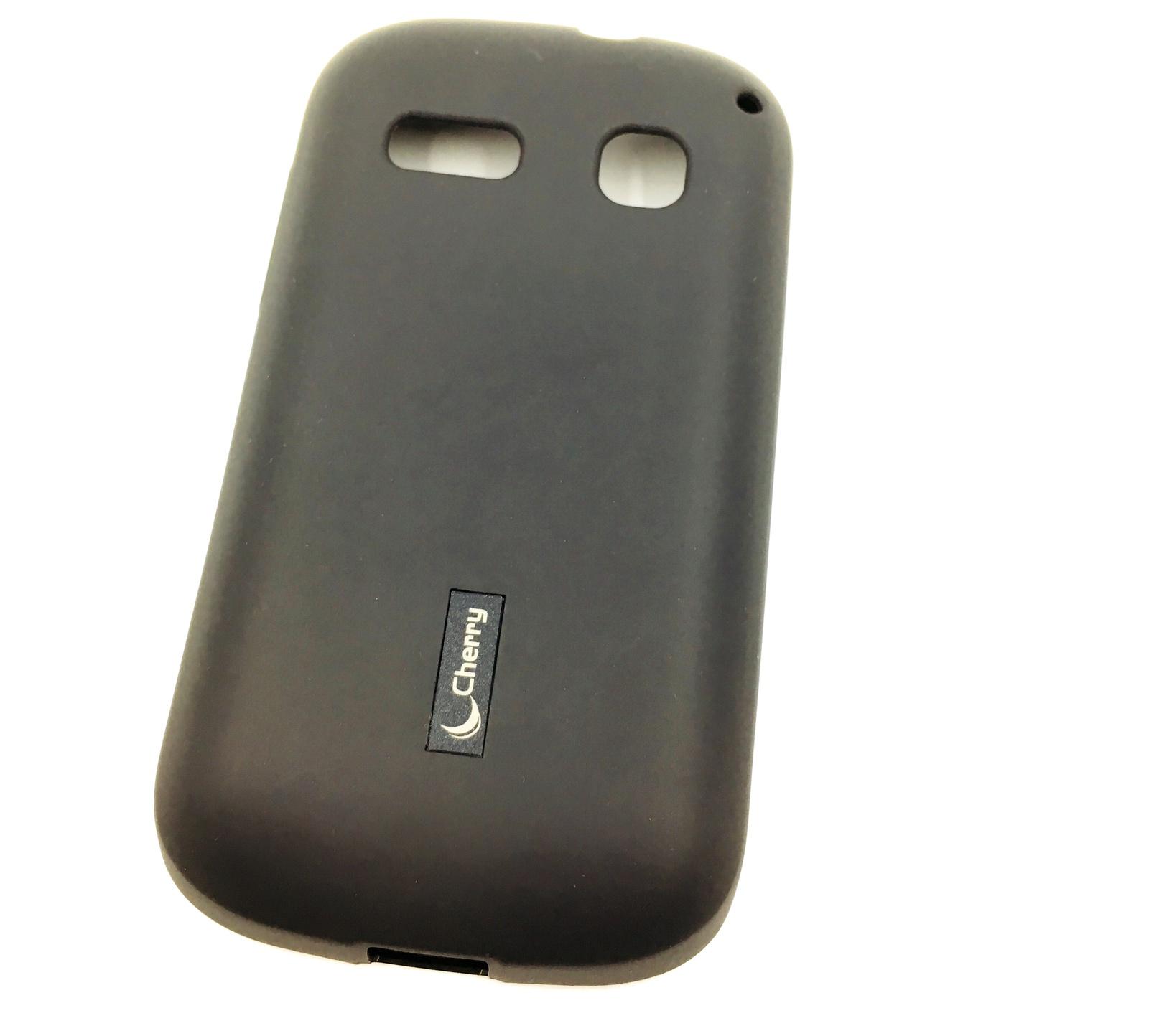 все цены на Чехол для сотового телефона Cherry Alcatel C3/OT4033D Накладка резиновая с пленкой на экран, черный онлайн