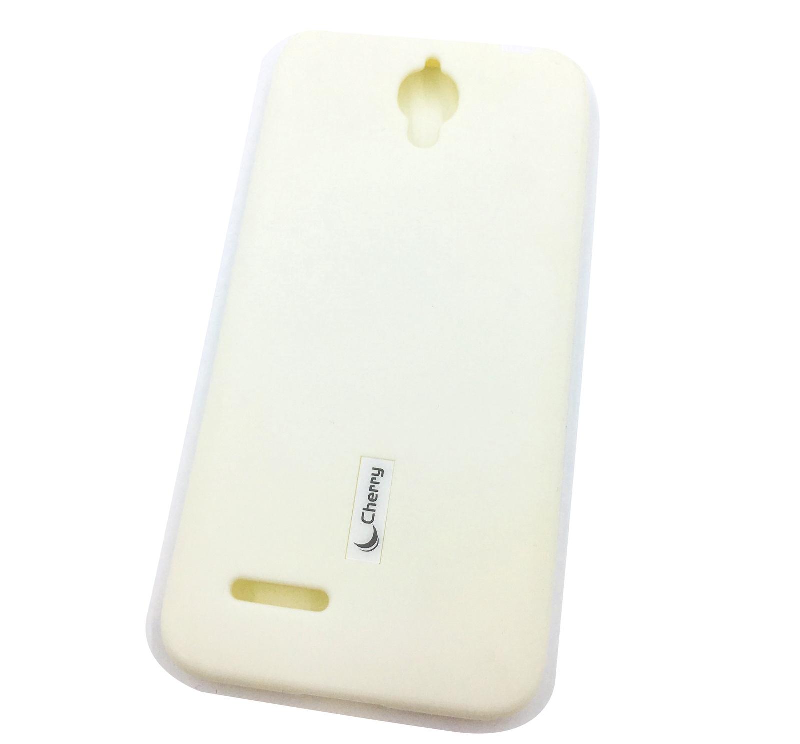 Чехол для сотового телефона Cherry Alcatel OT6016D/idol 2 mini Накладка резиновая с пленкой на экран, белый ударопрочное стекло для alcatel 6014x idol 2 mini l ainy 0 33 мм