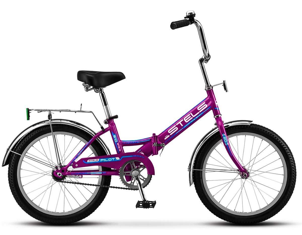 Велосипед 20 STELS Pilot-310 (13 Фиолетовый/голубой) насос stels