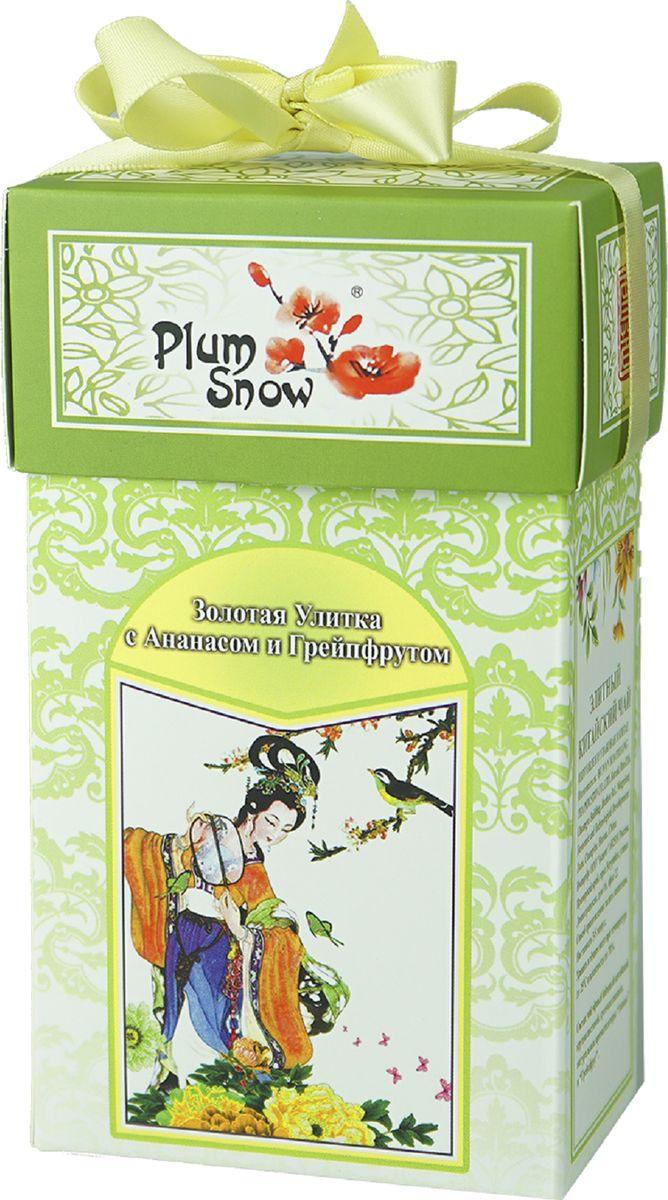 Чай листовой Plum Snow с ананасом и грейпфрутом, 100 г цена в Москве и Питере