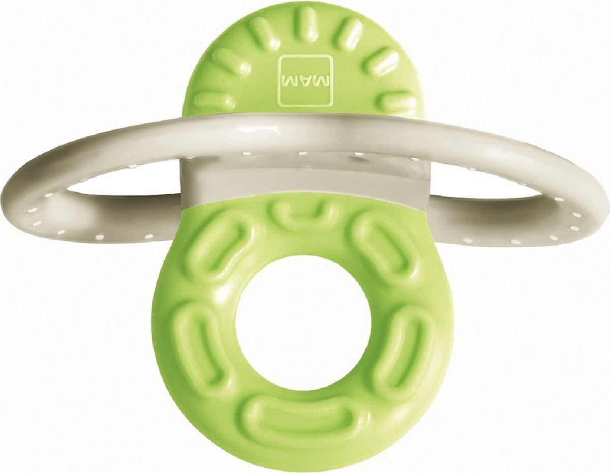 Мини-прорезыватель MAM Bite & Relax Phase 1, для передних зубов, зеленый mam прорезыватель для зубов bite