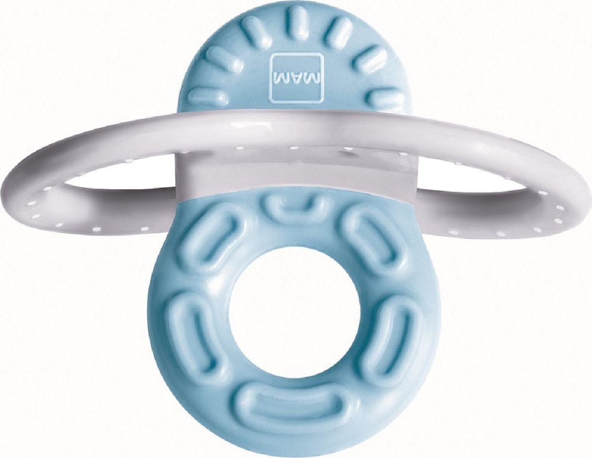 Мини-прорезыватель MAM Bite & Relax Phase 1, для передних зубов, голубой mam прорезыватель для зубов bite