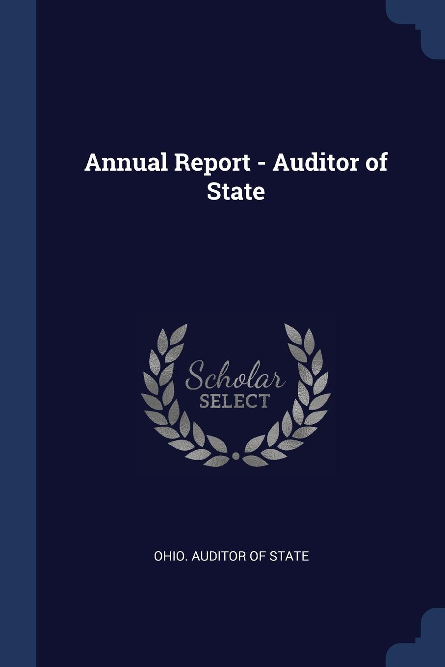Annual Report - Auditor of State
